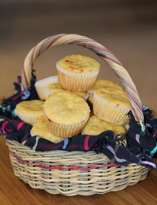 Green Chili Cheese Corn Muffins