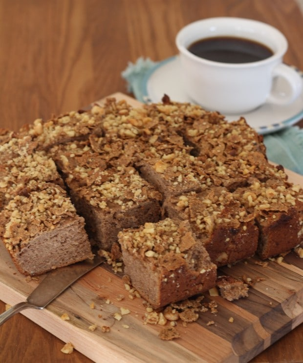 coffeecake with coffee