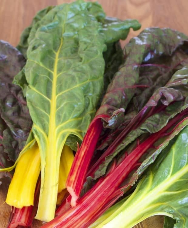 rainbow chard leaves for pepper jack and chard quesadilla wedges
