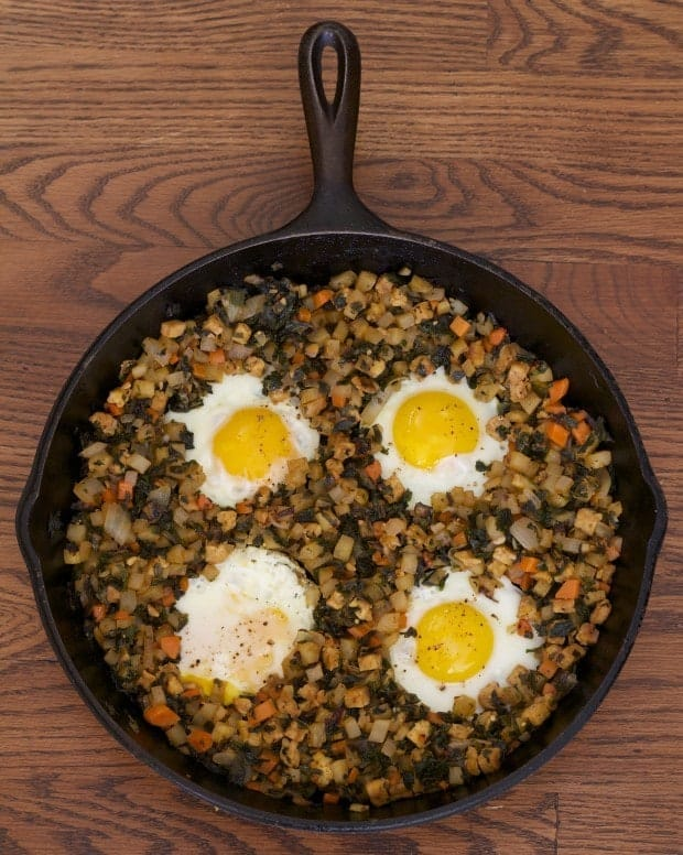 Kale, Tempeh, Potato Hash