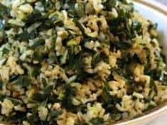 Dirty Rice with Collards and Leeks {vegan and gluten-free}