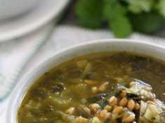 Farro and Hearty Greens Soup [vegan]