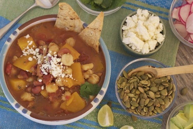 Slow Cooker Butternut Sqash Posole