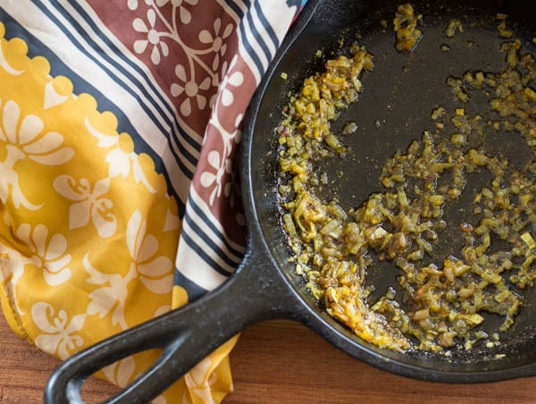 Shallots with curry for Indian Pappadams with Curried Cashew Dip