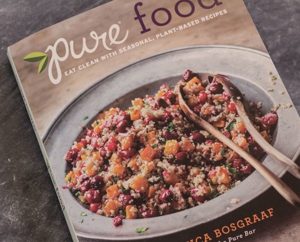 Pure food cookbook cover