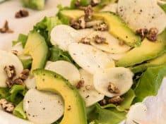 Maple Pecan Vinaigrette Salad with Japanese Salad Turnips