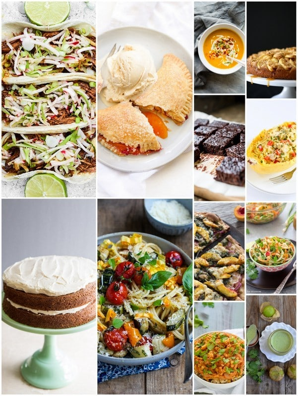 photo collage of September Seasonal Recipes