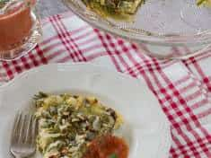 Healthy Salad Greens Torta {gluten-free}