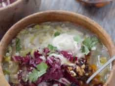 Chicory Soup with Barley and Lemon + Cookbook Review