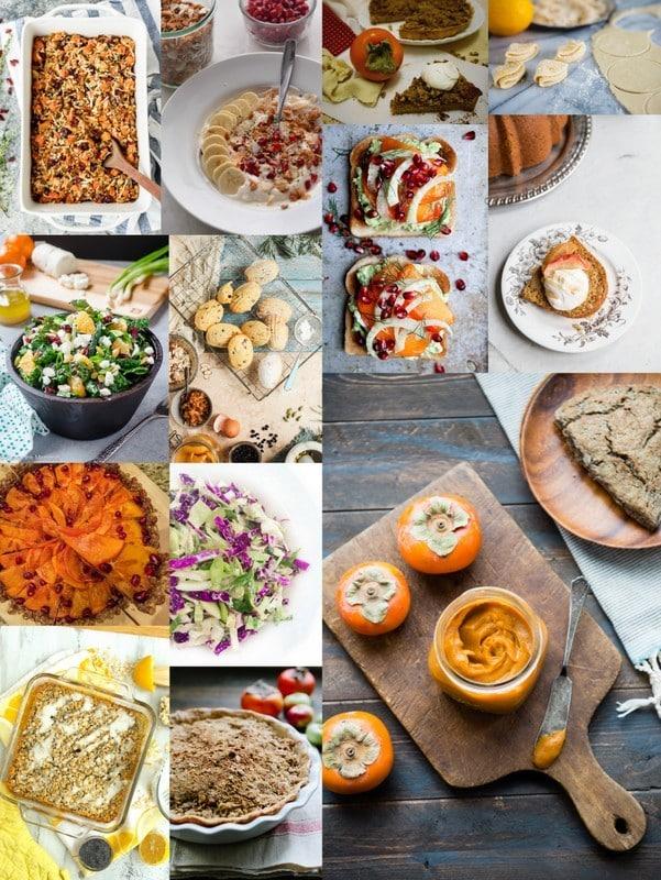 December Seasonal Recipe photo collage