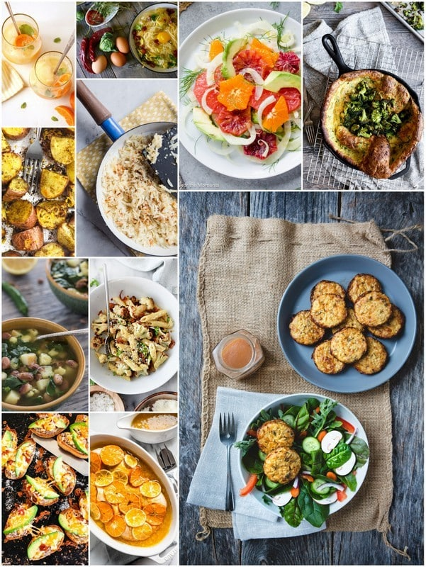photo collage of eat seasonal recipes for February