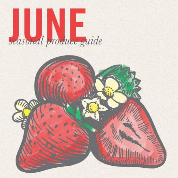 June Eat Seasonal poster for Sweet and Spicy Cucumber Ginger Salad