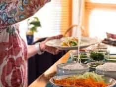 Vegetarian Rice Paper Spring Rolls {vegan and gluten-free}