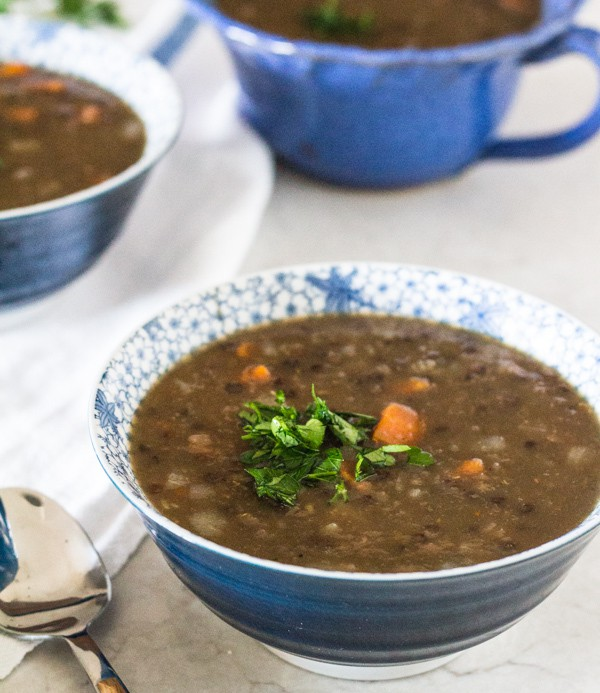 Black and Red Lentil Beer Soup | Letty's Kitchen