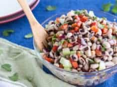 Mexican Black-eyed Pea Salad with Red Pepper