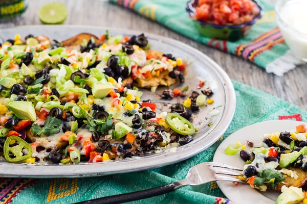 close up Tex-Mex Roasted Potato Nachos | Letty's Kitchen