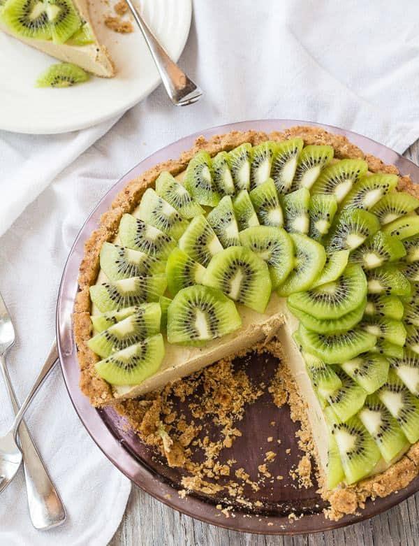 Creamy Vegan Kiwi Lime Avocado Pie | Letty's Kitchen
