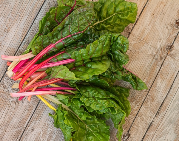 Chard for Spicy Instant Pot Chard and Pinto Bean Risotto