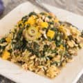 Brown Rice Mustard Green Pilaf