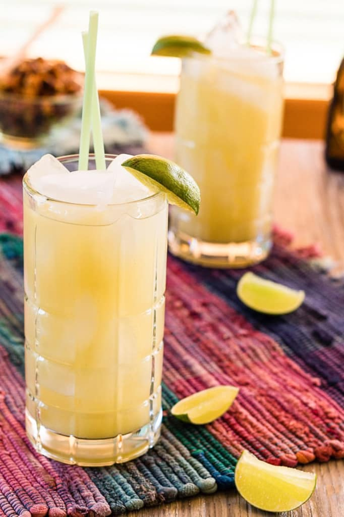 Ginger beer, tequila, and lime Mexican mule cocktail--refreshing and easy--can be mocktail mule without the tequila.
