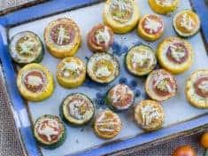 Zucchini, Cherry Tomato, and Gorgonzola Bites