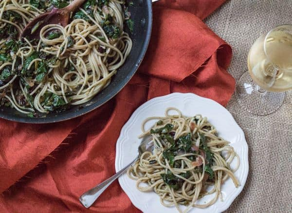 Spaghetti with Beet Greens | Letty's Kitchen