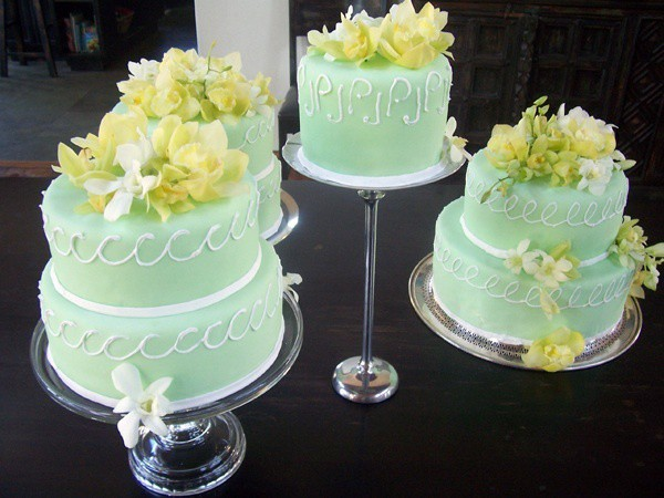 Tricia's wedding cakes--triple lemon and chocolate. A wedding cake made with love.