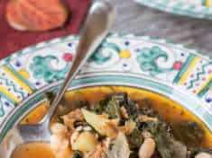 Portuguese Kale and Potato Soup (Instant Pot Pressure Cooker)
