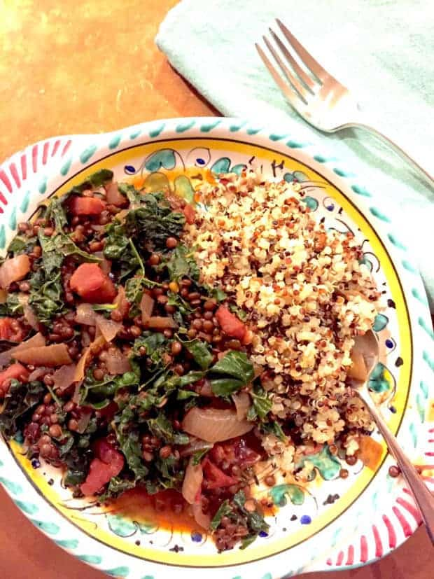 Smoky Green Lentils with Kale
