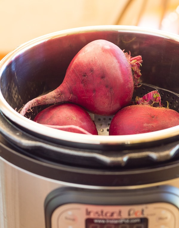 Beets in Instant Pot ready to cook