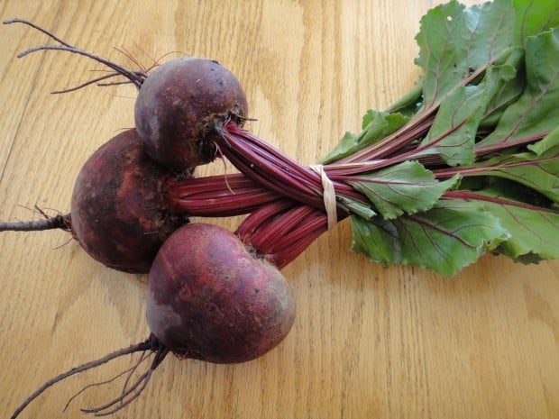Red beets and greens for how to cook beets in a pressure cooker