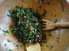 Outstanding Kale Salad with Sunflower Seed Pesto and Apricots