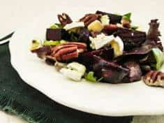 Blistered Beets with Sexy Dressing, Cambozola and Toasted Pecans