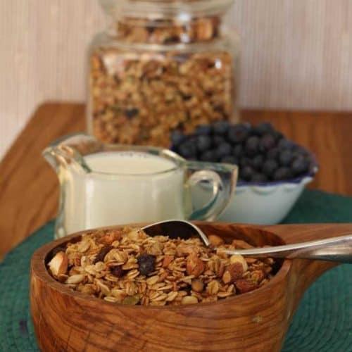 nutty healthy homemade granola
