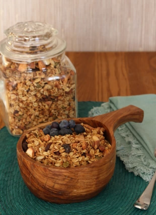 nutty healthy homemade granola from Abhilasha