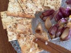 Easy Roasted Garlic and Crackers