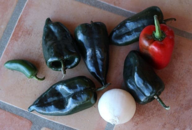 poblano chiles for Chile Rellenos with Chickpeas | Letty's Kitchen