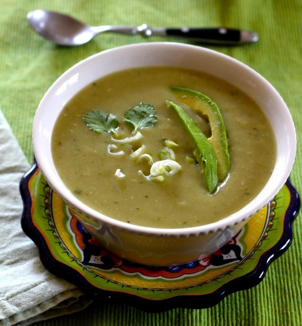 chayote chile soup