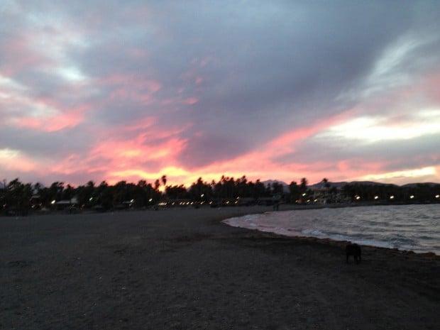Loreto sunset in Baja. Salsa Verde—Green Table Sauce