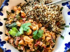 Indian Spiced Chard and Chickpea Curry
