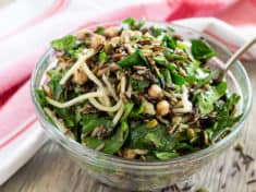 Wild Rice Arugula Salad with Chickpeas {Instant Pot Pressure Cooker}