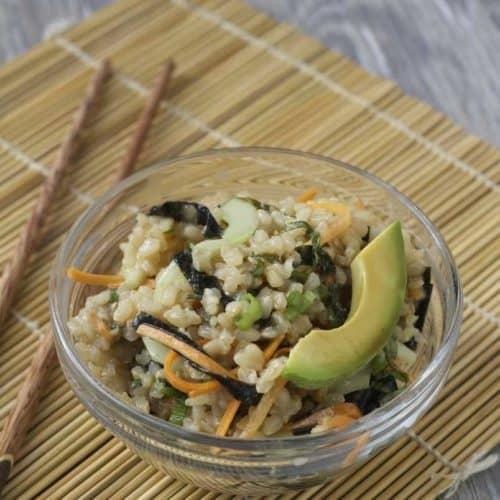 Brown Rice Shiso Sushi Salad