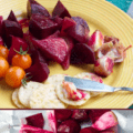roasted beets and garlic-2 photo collage with text for Pinterest