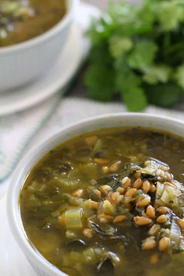 Farro and Hearty Greens Soup