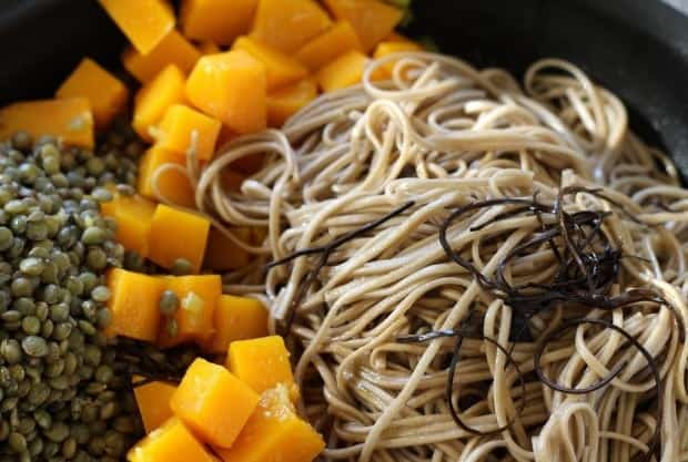 Butternut Squash, Soba Noodles, Arame
