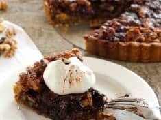 Maple Walnut and Chocolate Tart