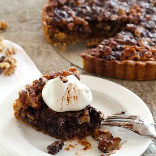 Walnut and Chocolate Tart