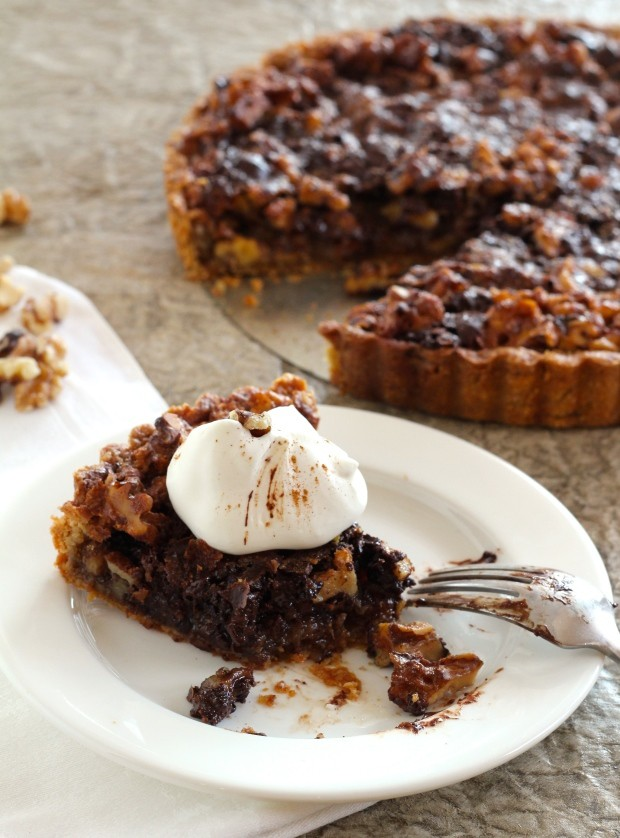 Walnut and Chocolate Tart