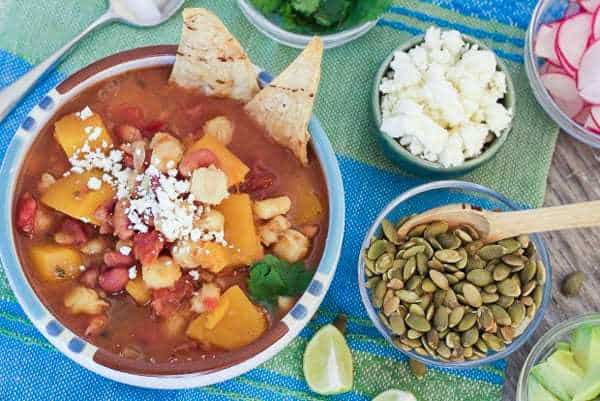 Slow Cooker Butternut Squash Posole | Letty's Kitchen