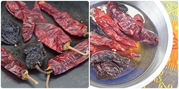 Red Enchilada Sauce soften and soak